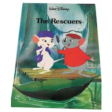 1989 Twin Books Walt Disney 'The Rescuers' Gallery Books