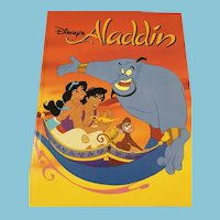 1992 The Walt Disney Company 'Aladdin' Hardcover Book
