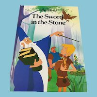 1987 Disney Classic Series 'The Sword in the Stone' Hardcover Book