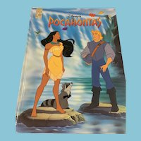 1991 'Disney's Pocahontas' Mouse Works Hardcover Book