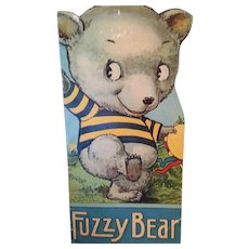 Vintage 'Fuzzy Bear' Animal Cut-Out Shaped Picture Storybook
