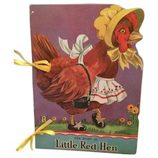 1941 'The Story of the Little Red Hen' Picture Storybook by Margo Voigt