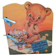 1942 'The Little Bear Who Always Wanted 2' Picture Storybook