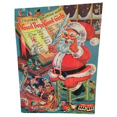 Vintage Uncolored Christmas 80 Page Coloring Book