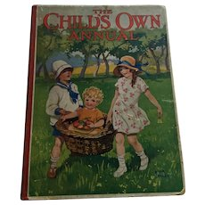 Circa 1920s 'The Child's Own Annual ' Ninety-Fourth Annual Volume