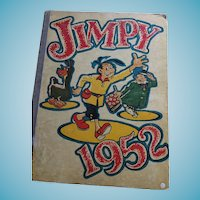 'Jimpy 1952' Hard Cover Children's Book of stories, Comics, Games and Puzzles