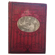 1903 'Young People's Library of Entertainment and Amusement' Hardcover Book