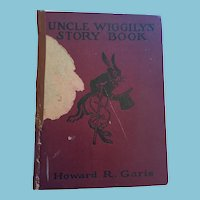 "1935 'Uncle Wiggly's Story Book' 9"" X 7"" Hard Covered Book"
