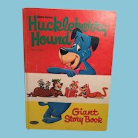 Hanna-Barera Hard Cover Huckleberry Hound Giant Story Book