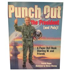 Unused 'Punch Out the President (and Pals)' Paperdoll Book Starring George W.