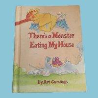 1981 First Edition 'There's a Monster Eating My House' Parents Magazine Hardcover Book