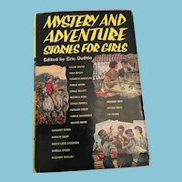 1968 'Mystery and Adventure Stories for Girls' Hardcover Book with Dust Cover
