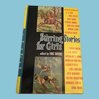 1968 'Stirring Stories for Girls' Hardcover Book with Dust Cover