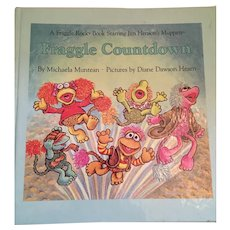 1985 First Edition Fraggle Rock - 'Fraggle Countdown' - Children's Illustrated Hardcover Book