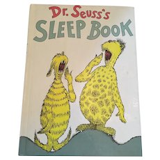 1962  'Dr. Suess's Sleep Book! Hardcover Book
