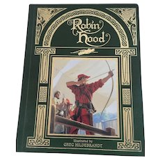 1991 Leather-bound Fully Illustrated 'Robin Hood' Storybook