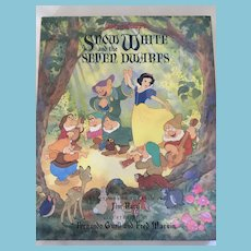 1993 Walt Disney's 'Snow White and the Seven Dwarfs' Hardcover Book and Dust Jacket