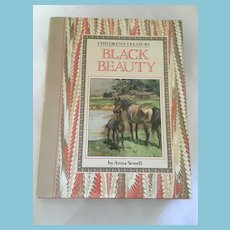 1990 Children's Treasury 'Black Beauty' Hardcover Book and Dust Jacket
