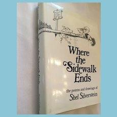 'Where the Sidewalk Ends' by Shel Silverstein Hardcover Book with Dust Jacket