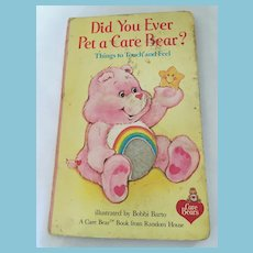 1983 'Did You Ever Pet a Care Bear?' Fuzzy Board Book