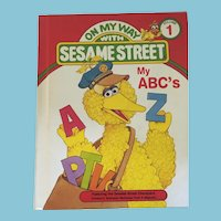 1989 On My Way with Sesame Street 'My ABC's' Hardcover Book