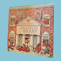 1971 'Richard Scarry's Look and Learn Library' Boxed Set of Four Hardcover Books