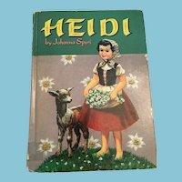 1954 Whitman Classics 'Heidi' Hardcover Book