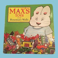 1998 'Max's Toys' Hard Board Brightly Colored Picture Storybook
