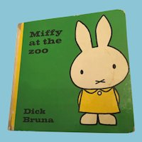 1975  'Miffy at the Zoo' Hardcover Illustrated Children's Storybook