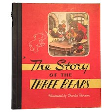 1946 'The Story of the Three Bears' Hard Cover Children's Storybook