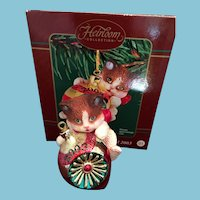 year 2003 Carlton Cards, Heirloom Collection, Purr-Fect Holidays, M-I-B Christmas Ornament