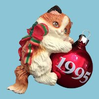 1995 Carlton Cards, Heirloom Collection, Purr-Fect Holidays, M-I-B Christmas Ornament