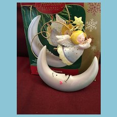 Carlton Cards, American Greetings, 'Moon Dreams', M-I-B angel Christmas Ornament
