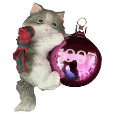 1997 Carlton Cards, Heirloom Collection, Purr-Fect Holidays, M-I-B Christmas Ornament