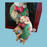 1996 'First in a Collectible Series' Carlton Cards, Heirloom Collection,  'Merry Mischief' M-I-B Christmas Ornament