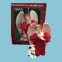 Carlton Cards, Heirloom Collection, 'Heaven and Natures'  Christmas Angel Ornament in Original Box