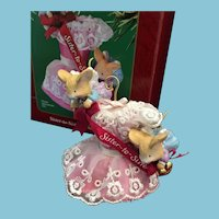 2002 Carlton Cards, Heirloom Collection, 'Sister to Sister' Christmas Ornament in Original Box.
