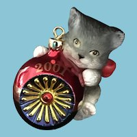 2001 Carlton Cards, Heirloom Collection, Purr-Fect Holidays, M-I-B Christmas Ornament
