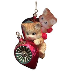 1998 Carlton Cards, Heirloom Collection, Purr-Fect Holidays, M-I-B Christmas Ornament