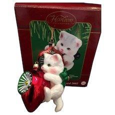 2002 Carlton Cards, Heirloom Collection, Purr-Fect Holidays, M-I-B Christmas Ornamen
