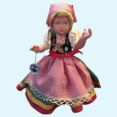 Pristine Circa 1950s -60s Celluloid German Doll