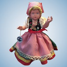 Pristine Circa 1950s -60s Celluloid German Doll