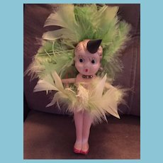 "6 1/2"" Celluloid Googly-Eyed Carnival Doll 'Japan'"
