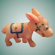 Goofy Vintage Celluloid Donkey Nodder Toy.