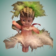 "4"" Celluloid Googly-Eyed Carnival Doll 'Japan'"