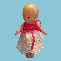 "4"" Celluloid Googly-Eyed Toddler Doll 'Made in Japan'"