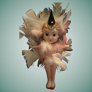 """6"""" Celluloid Googly-Eyed Carnival Doll Marked 'Japan'."""