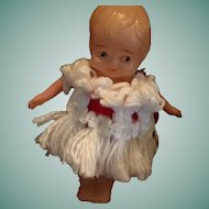 """4"""" Celluloid Googly-Eyed Toddler Doll 'Made in Japan'"""