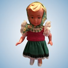 Circa 1960s Hard Plastic Dancing Doll from West Germany