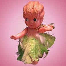 Circa 1940s Celluloid Googly-Eyed Doll